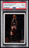 Basketball Cards:Singles (1980-Now), 2003 Topps Chrome LeBron James #111 PSA Mint 9....