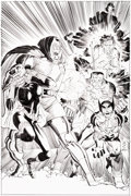 Original Comic Art:Covers, John Romita Jr. and Klaus Janson Doomwar #2 Cover Black Panther and X-Men Original Art (Marvel, 2010)....