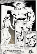 Original Comic Art:Splash Pages, Dale Keown and Bob McLeod Hulk #377 Splash Page 22 OriginalArt (Marvel, 1991)....