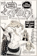 Original Comic Art:Covers, John Romita Sr. Spidey Super Stories #10 Cover Spider-Man and The Electric Company Original Art (Marvel, 1975)....