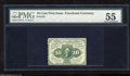 Fractional Currency:First Issue, Fr. 1241 10c First Issue PMG About Uncirculated 55. This perforated example is around 30 times scarcer than its design sibli...