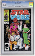 Modern Age (1980-Present):Science Fiction, Star Wars #107 (Marvel, 1986) CGC NM- 9.2 White pages....