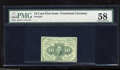 Fractional Currency:First Issue, Fr. 1242 10c First Issue PMG Choice About Unc 58. These were printed in sheets of 20. This note has acquired minute handling...