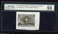 Fractional Currency:Second Issue, Fr. 1232SP 5c Second Issue Narrow Margin Face Specimen PMG Choice Uncirculated 64. All four margins are different sizes rang...