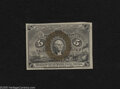 """Fractional Currency:Second Issue, Fr. 1233 5c Second Issue Gem New. A lovely example of this slightly scarcer variety with """"18-63"""" surcharges on the back. Th..."""