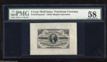 "Fractional Currency:Third Issue, Fr. 1227SP 3c Third Issue Wide Margin Face Specimen PMG Choice About Unc 58. The watermarked ""C"" on this paper demonstrates ..."