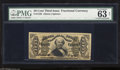 Fractional Currency:Third Issue, Fr. 1329 50c Third Issue Spinner PMG Net Choice Uncirculated 63. This Allison-Spinner autographed note is scarce and underra...