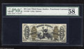 "Fractional Currency:Third Issue, Fr. 1363 50c Third Issue Justice PMG Choice About Unc 58. This Friedberg number has sheet position indicators ""1"" and ""a."" O..."