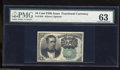 Fractional Currency:Fifth Issue, Fr. 1264 10c Fifth Issue PMG Choice Uncirculated 63. The MeredithGreen Seal notes are many times scarcer than the Meredith ...