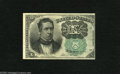 Fractional Currency:Fifth Issue, Fr. 1264 10c Fifth Issue New. This is the much scarcer Green Sealvariety of this Fifth Issue type. There are three broad ma...