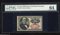 Fractional Currency:Fifth Issue, Fr. 1309 25c Fifth Issue PMG Choice Uncirculated 64. The third-party label is incorrect on this note as it is a Short Key va...