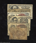Fractional Currency:Group Lots, Fractional Grouping including Fr. 1230 AG; Fr. 1259 (2) VG and VF,rust streaks; Meredith 10¢ AG; Fr. 1265 VG;... (6 notes)