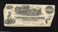 Confederate Notes:1862 Issues, T39 $100 1862. This is a bright Straight Steam type. Fine.+...