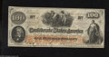 Confederate Notes:1862 Issues, T41 $100 1862. This is a beautiful Scroll 2 variety that is nicelypreserved with its dark orange undertint. The interest pa...