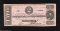 Confederate Notes:1862 Issues, T54 $2 1862. This 1st Series Two exhibits light handling. AboutUncirculated....