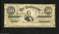 Confederate Notes:1864 Issues, T66 $50 1864. The Jeff Davis $50 is a popular note among Confederate enthusiasts. A couple of minute edge nicks are noticed....