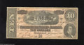 Confederate Notes:1864 Issues, T68 $10 1864. Even wear is found on this $10. Very Fine....