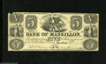 Obsoletes By State:Ohio, Massillon, OH- Bank of Massillon $5 July 1, 1853 This bank would gobelly up in November 1853, less than six months after t...
