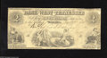 Obsoletes By State:Tennessee, Memphis, TN- Bank of West Tennessee $2 June 21, 1861 We havehandled only once before this design on this bank in our bimon...
