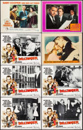 """Movie Posters:Crime, Dillinger & Others Lot (American International, 1973). Lobby Cards (8) (11"""" X 14"""") George Akimoto Border Artwork. Crime.. ... (Total: 8 Items)"""