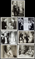 """Movie Posters:Comedy, Meet the Wife (Columbia, 1931). Photos (6), Restrike Photos (7), & Restrike Negatives (5) (Approx. 8"""" X 10""""). Comedy.. ... (Total: 18 Items)"""