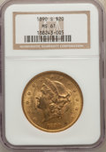 Liberty Double Eagles: , 1890-S $20 MS61 NGC. NGC Census: (676/502). PCGS Population: (405/887). CDN: $1,370 Whsle. Bid for problem-free NGC/PCGS MS...