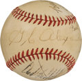 Autographs:Baseballs, 1930's Babe Ruth, Grover Cleveland Alexander & Carl Hubbell Signed Baseball....