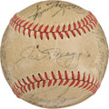 Autographs:Baseballs, 1951 New York Yankees Team Signed Baseball.. ...