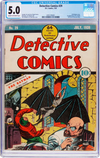 Detective Comics #29 (DC, 1939) CGC VG/FN 5.0 Cream to off-white pages