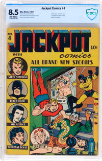 Jackpot Comics #4 (MLJ, 1941) CBCS VF+ 8.5 Off-white pages