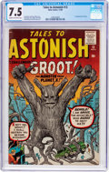 Silver Age (1956-1969):Science Fiction, Tales to Astonish #13 (Marvel, 1960) CGC VF- 7.5 Cream to off-white pages....