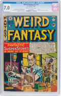 Golden Age (1938-1955):Science Fiction, Weird Fantasy #13 (#1) (EC, 1950) CGC FN/VF 7.0 Cream to off-whitepages....