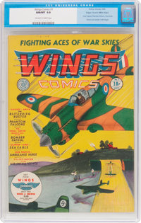 Wings Comics #1 Mile High Pedigree (Fiction House, 1940) CGC NM/MT 9.8 Off-white to white pages