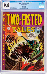 Two-Fisted Tales #27 Gaines File Pedigree 7/10 (EC, 1952) CGC NM/MT 9.8 Off-white pages