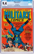 Golden Age (1938-1955):War, Military Comics #4 Mile High Pedigree (Quality, 1941) CGC NM 9.4 White pages....