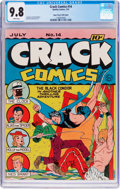 Golden Age (1938-1955):Superhero, Crack Comics #14 Mile High Pedigree (Quality, 1941) CGC NM/MT 9.8 White pages....