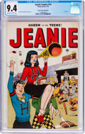 Golden Age (1938-1955):Humor, Jeanie Comics #14 Mile High Pedigree (Marvel/Atlas, 1947) CGC NM 9.4 Off-white to white pages....