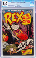 Golden Age (1938-1955):Miscellaneous, Adventures of Rex the Wonder Dog #1 Mile High Pedigree (DC, 1952) CGC VF 8.0 White pages....