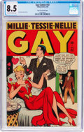 Golden Age (1938-1955):Humor, Gay Comics #32 Mile High Pedigree (Timely, 1948) CGC VF+ 8.5 Off-white to white pages....