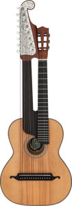 Musical Instruments:Acoustic Guitars, Adolf Meinel Zithernbau Natural Harp Guitar, Serial # 7293....