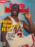 Basketball Collectibles:Publications, 1992 Michael Jordan Signed Sports Illustrated Magazine. . ...