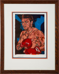 Boxing Collectibles:Autographs, Muhammad Ali Signed Lithograph Display. ...
