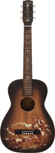 Musical Instruments:Acoustic Guitars, Circa 1940's-1950's Melody Ranch Gene Autry Sunburst Acoustic Guitar, Serial # N/A....