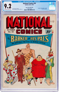 National Comics #50 Mile High Pedigree (Quality, 1945) CGC NM- 9.2 Off-white to white pages