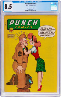Punch Comics #17 Mile High Pedigree (Chesler, 1946) CGC VF+ 8.5 Off-white to white pages