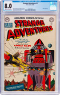 Golden Age (1938-1955):Science Fiction, Strange Adventures #3 (DC, 1950) CGC VF 8.0 Cream to off-whitepages....