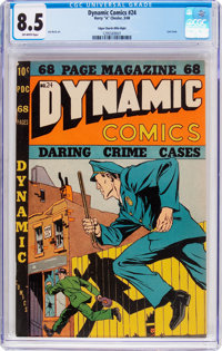 Dynamic Comics #24 Mile High Pedigree (Chesler, 1948) CGC VF+ 8.5 Off-white pages