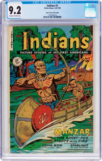 Indians #3 Mile High Pedigree (Fiction House, 1950) CGC NM- 9.2 Off-white to white pages
