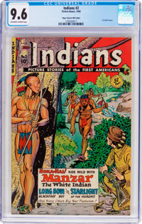 Indians #2 Mile High Pedigree (Fiction House, 1950) CGC NM+ 9.6 Off-white to white pages