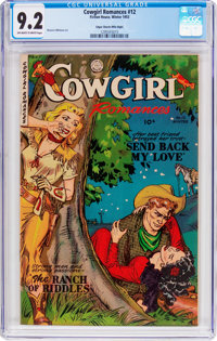 Cowgirl Romances #12 Mile High Pedigree (Fiction House, 1953) CGC NM- 9.2 Off-white to white pages